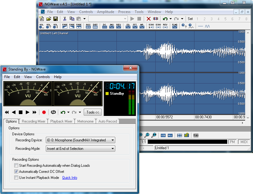 NGWave Audio Editor Screenshot